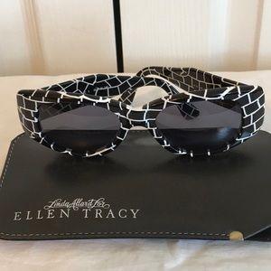 ELLEN TRACY black & white sunglasses